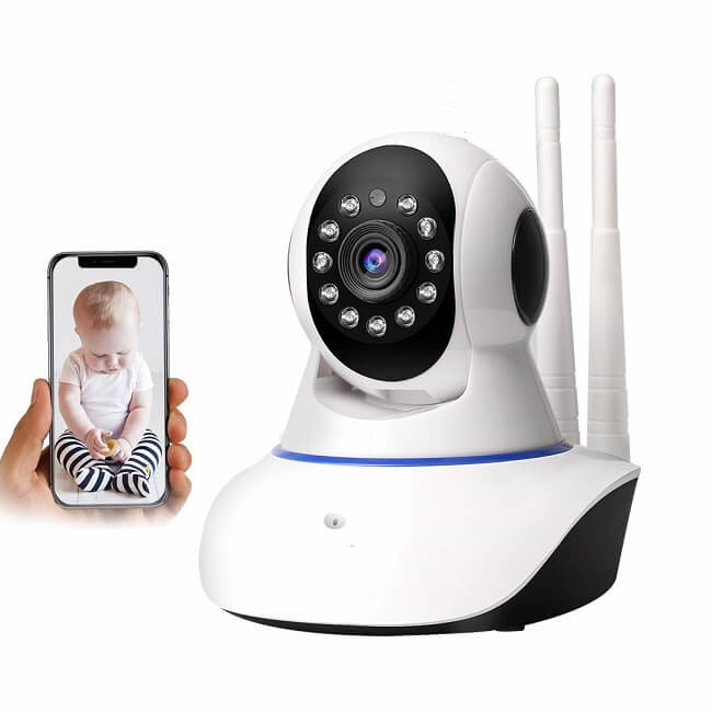 Night Vision Wireless PT beltéri IP Wifi kamera Ts 0222