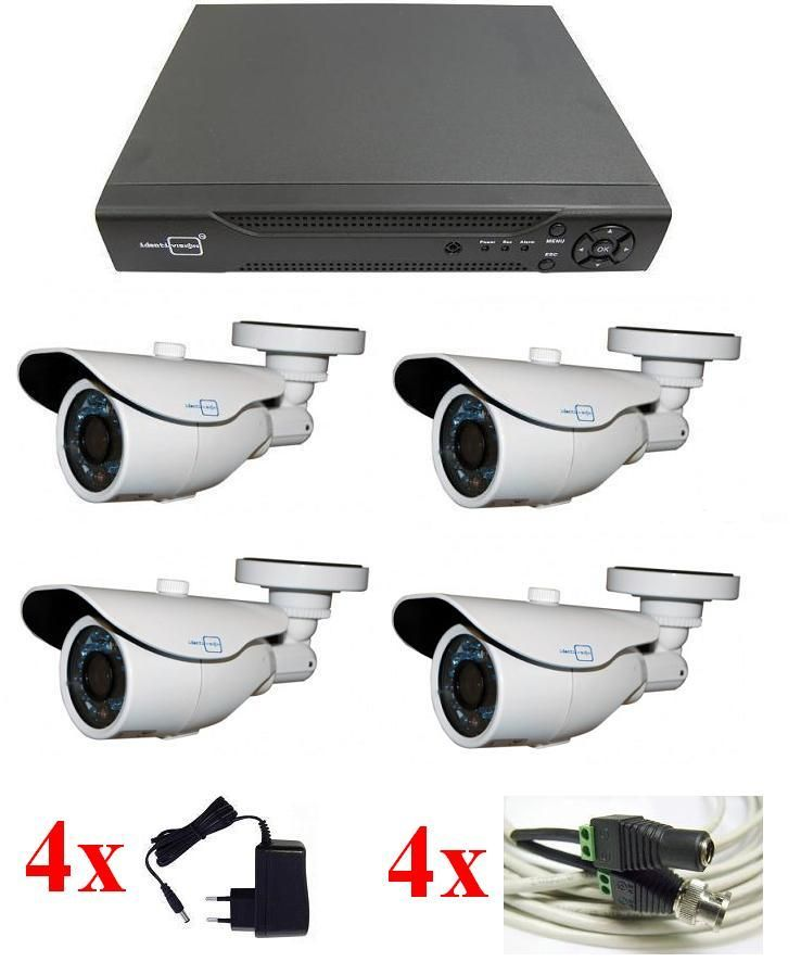 DVR Vision 20 led 4 kamers jjellt kamera rendszer