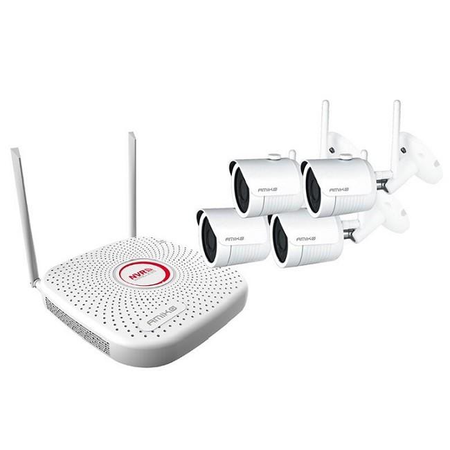 Vezeték nélküli 2MP IP kamera rendszer 4 Wifi Full HD kamerával S200