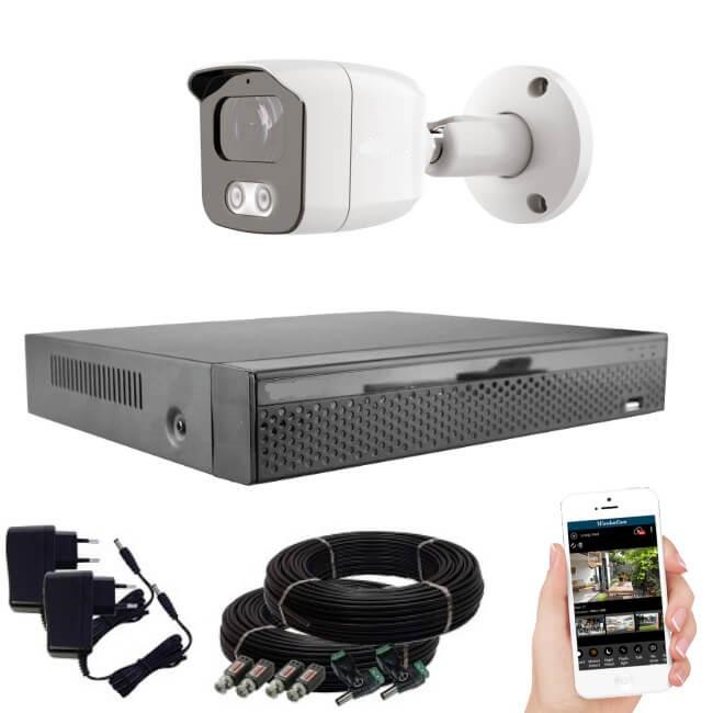 KPC Ts23 - 1 kamerás éjjellátó kamera rendszer 2 MegaPixel HD felbontás