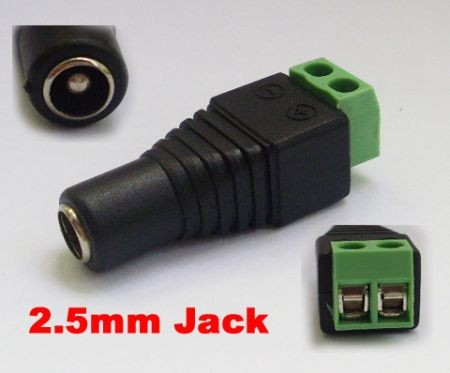 5.5x2.5mm CCTV DC Adapter jack Connector
