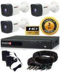 1.3 Mega-Pixel Povision 3 kamerás AHD kamera rendszer