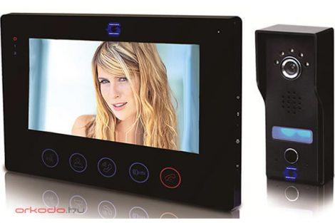 """Gegensprechanlage Set mit farbiger Videokamera mit 7"""" LCD/TFT mit Touchscreenmonitor"""