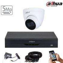 Dahua 5 megapixeles 1 dome kamerás rendszer 25 méter látótávolság