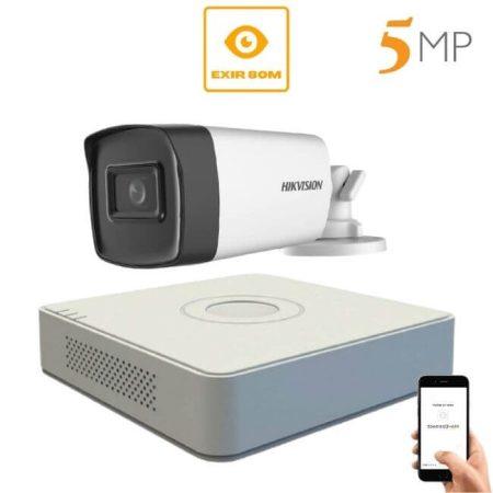 5 megapixeles Hikvision 1 kamerás rendszer 80 méter látótávolság