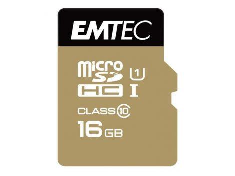 EMTEC 16 GB microSD Speicherkarte + Adapter Class 10