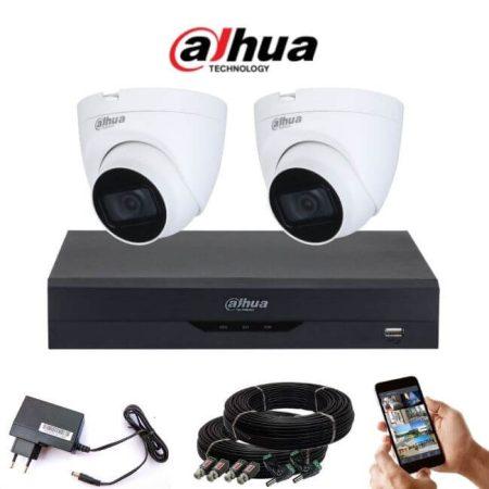 Dahua 5 megapixeles 2 dome kamerás rendszer 25 méter látótávolság