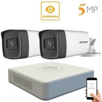 5 megapixeles Hikvision 2 kamerás rendszer 80 méter látótávolság