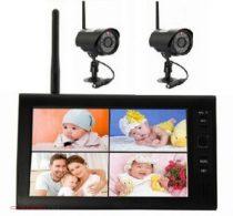2 kamerás monitoros kamera rendszer VGA SD kártya rögzítés