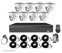 2 megapixeles 8 dome kamerás kamerarendszer csomag