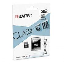 EMTEC 32 GB microSD memóriakártya + adapter Class 10