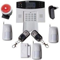Global GSM-SMS vezeték nélküli riasztó rendszer 3db PIR 99 zónás