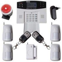 Global GSM-SMS vezeték nélküli riasztó rendszer 4db PIR 99 zónás