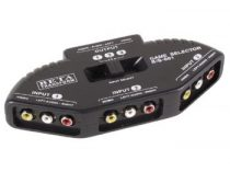 3 csatornás AV Audio Video RCA elosztó, kapcsoló