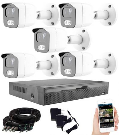 KPC Ts23 - 5 kamerás éjjellátó kamera rendszer HD 1280X720P felbontás