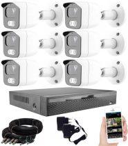 6 kamerás 23 ledes éjjellátó megfigyelő rendszer
