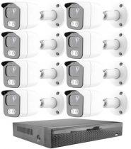 8 kamerás 23 ledes éjjellátó megfigyelő rendszer