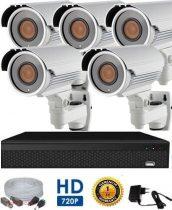 AHD-42 Überwachungssystem mit 5 Kameras 5X ZOOM HD 1920X1080 Auflösung