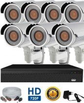 AHD-42 Überwachungssystem mit 7 Kameras 5X ZOOM FullHD 1920x1080 Auflösung