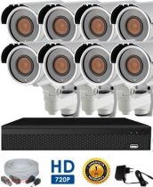 AHD-42 Videoüberwachungssystem mit 8 Kameras 5X ZOOM FullHD Auflösung