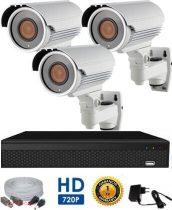 3 kamerás AHD megfigyelő rendszer