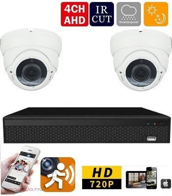 AHD-36 2 kamerás megfigyelő kamerarendszer 5X ZOOM HD Full HD 2 MegaPixel
