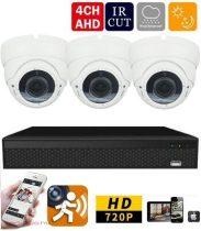AHD-36 3 kamerás megfigyelő kamerarendszer 5X ZOOM Full HD 2 MegaPixel