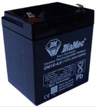DIAMEC DM 12V 4.5 Ah zselés akkumulátor