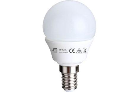 LED izzó G45 4W E14 220-240V ̴ 50/60HZ 3000K