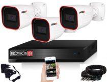 Provision AHD-23 Überwachungssystem mit 3 Kameras Full HD 1920x1080P