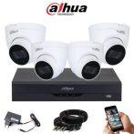 Dahua 5 megapixeles 4 dome kamerás rendszer 25 méter látótávolság