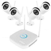 Vezeték nélküli IP kamera rendszer 4 Wifi HD kamerával S100