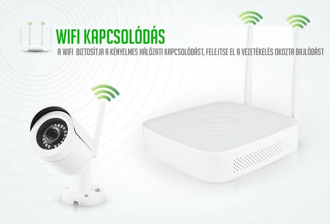 Vízálló wifi kültéri kamera