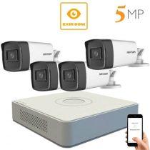 5 megapixeles Hikvision 4 kamerás rendszer 80 méter látótávolság