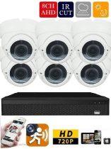 AHD-36 6 kamerás megfigyelő kamerarendszer 5X ZOOM Full HD 2 MegaPixel