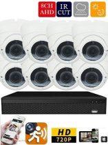 AHD-36 8 kamerás megfigyelő kamerarendszer 5X ZOOM HD 1280X720 felbontásban