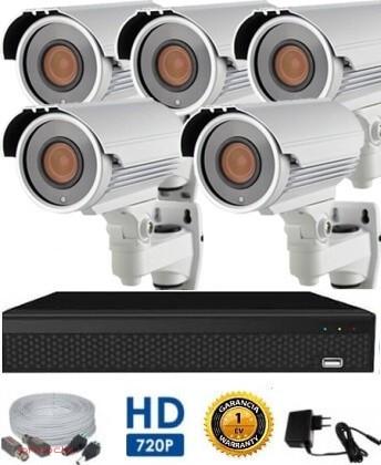 AHD-72 5 kamerás megfigyelő kamerarendszer 5X ZOOM HD 1280X720 felbontásban