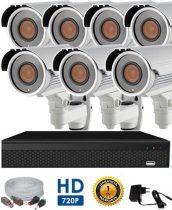 AHD-72 7 kamerás megfigyelő kamerarendszer 5X ZOOM HD 1280X720 felbontásban