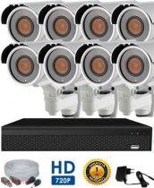 AHD-72 8 kamerás megfigyelő kamerarendszer 5X ZOOM HD 1280X720 felbontásban