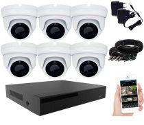 6 kamerás 24 ledes éjjellátó megfigyelő rendszer