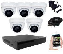 KPC Ts28 - Kamerasystem mit 5 Kameras mit Nachtsicht FullHD 1920x1080P Auflösung