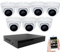 7 kamerás 24 ledes éjjellátó megfigyelő rendszer