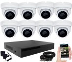 8 kamerás 24 ledes éjjellátó megfigyelő rendszer