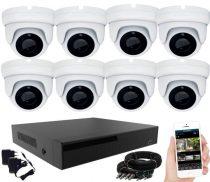 KPC Ts28 - Kamerasystem mit 8 Kameras mit Nachtsicht HD 1920x1080P Auflösung