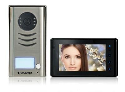 """Gegensprechanlage mit farbiger Videokamera Set mit """"7 TFT LCD Monitor ACI FARFISA FA/1SEK"""