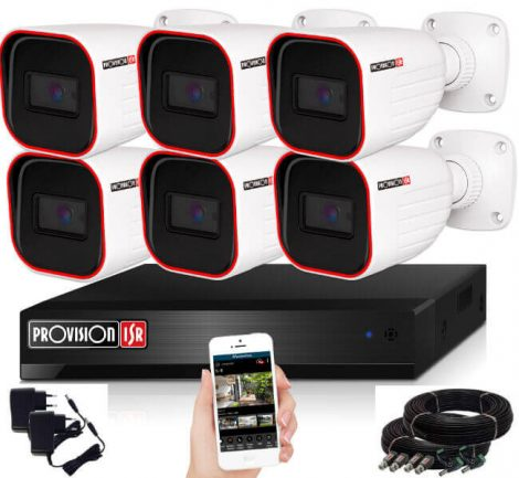 Provision AHD-23 Überwachungssystem mit 6 Kameras HD 1920x1080P Auflösung