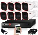 Provision AHD-23 Überwachungssystem mit 8 Kameras HD 1920x1080P Auflösung
