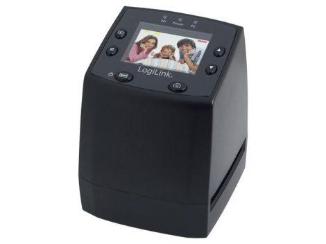 Film és dia scanner LCD kijelzővel, SD kártya rögzítővel LogiLink DS0001