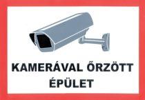 Das Gebäude wird durch Kamera überwacht /Aufkleber/