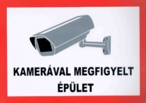 Kamerával megfigyelt épület /matrica/